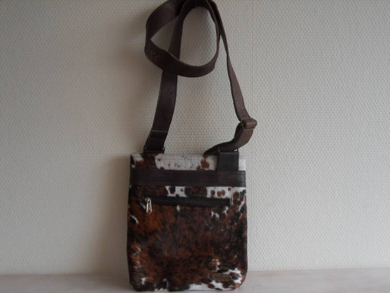 Leren schoudertas /cross-over tas