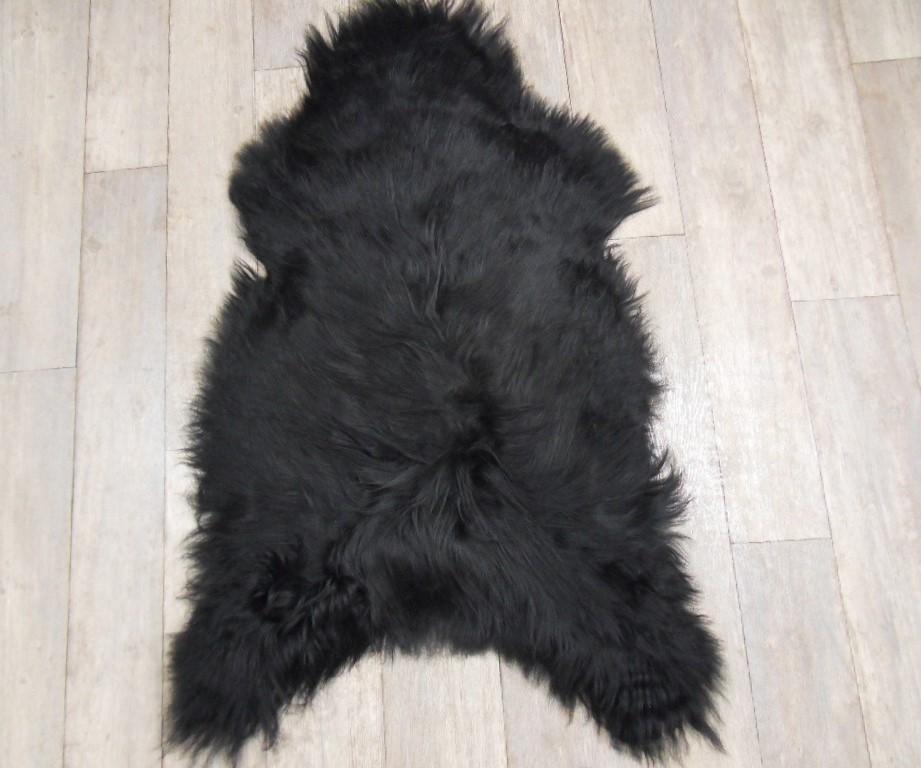 Zwarte IJslandse schapenvacht